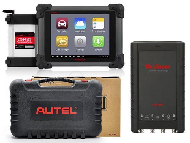 Autel MaxiSYS Pro MS908P Car Bluetooth/WIFI Diagnostic / ECU Programming  Tool Coding Reprogramming with J2534 VCI box + Free Gift Basic Kit  MaxiScope