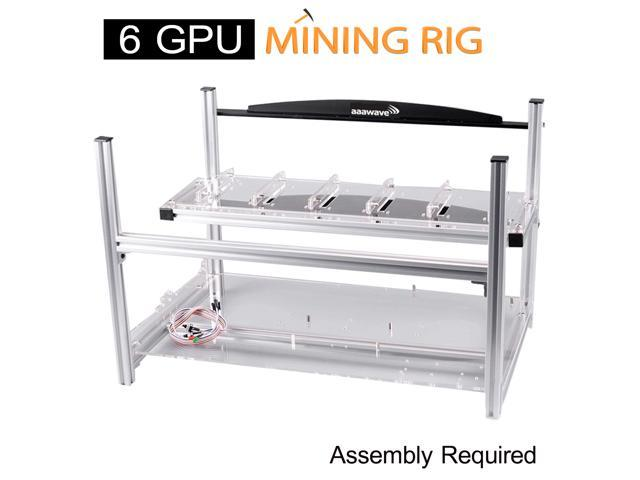 6 GPU Open Air Mining Frame Rig Case Holder Drawer For ETH BTC Ethereum ZCash US