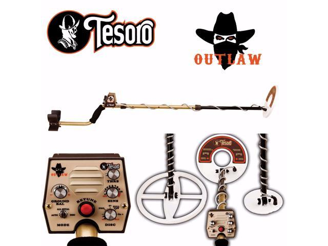 Tesoro Outlaw Metal Detector with 3 Search Coil Bundle and Lifetime  Warranty - Newegg com