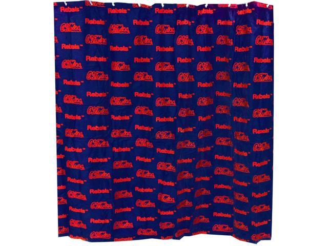 Ole Miss Printed Shower Curtain Cover 70 X 72 By College Covers