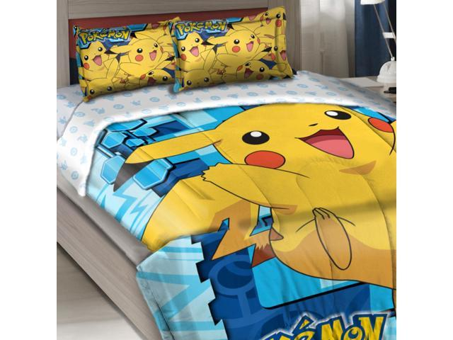Pokemon Twin Full Comforter Set Pikachu Bedding