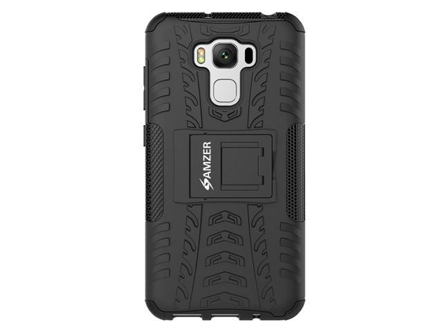 the latest d4303 e599b Asus ZenFone 3 Max ZC553KL Case, Heavy Duty [Shockproof] Hybrid Hard Snap  On Anti Slip Warrior Armor Protective Cell Phone Case Cover with Stand & ...