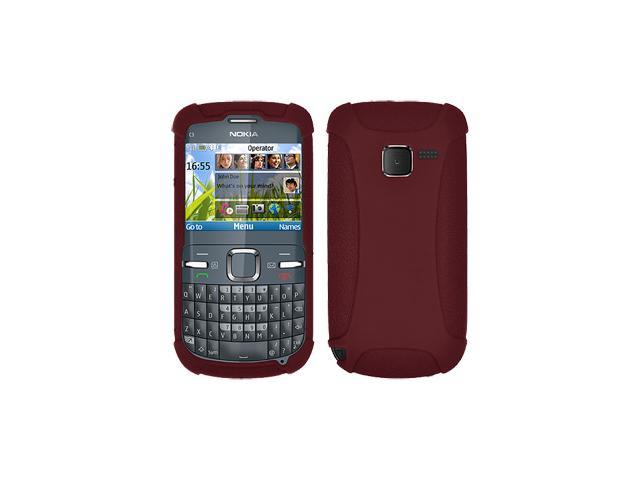 buy online 3135d e09f8 Amzer Silicone Skin Jelly Case for Nokia C3 - Maroon Red - Newegg.com