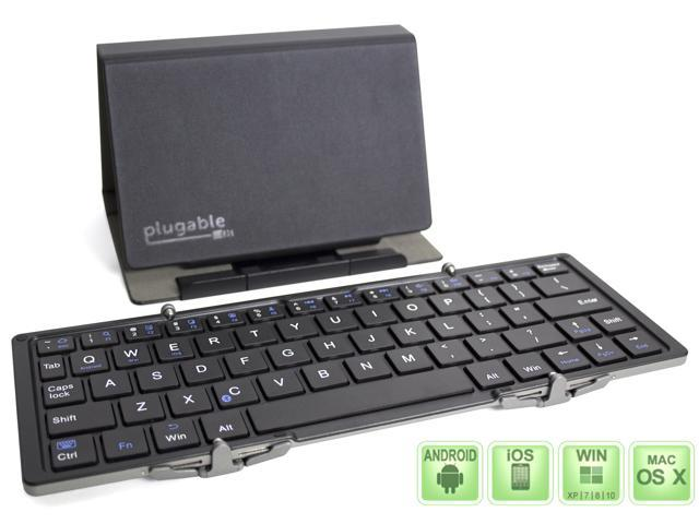 Plugable Bluetooth Compact Travel Keyboard for Windows, Mac, Linux, and Android
