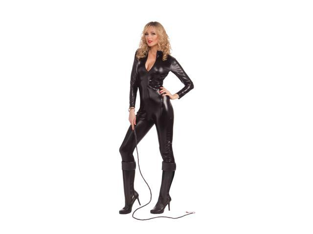 sexy spy catsuit womens black bodysuit halloween costume
