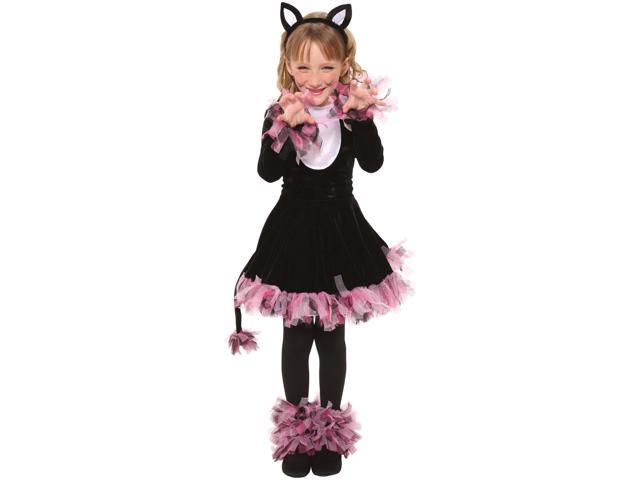 Living Fiction Feisty Kitty Cat 4pc Girl Costume Black Pink Small 4-6  sc 1 st  Newegg.com & Living Fiction Feisty Kitty Cat 4pc Girl Costume Black Pink Small ...