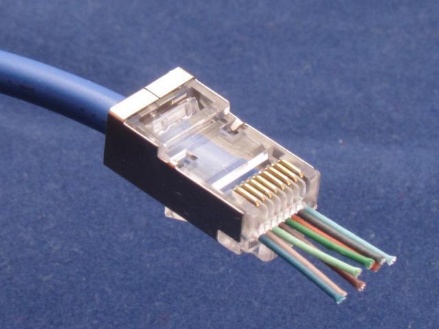 100 X CAT6 Shielded EZ RJ45 Pass Through Modular Plug Connector Open End CAT 6