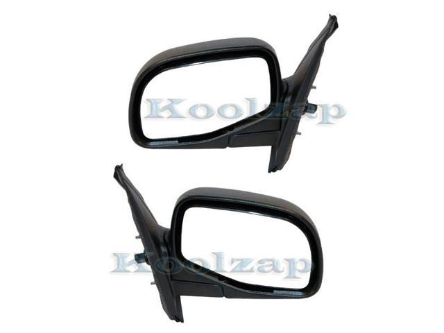 95-01 Explorer Manual Folding Black Rear View Mirror Left /& Right Side SET PAIR