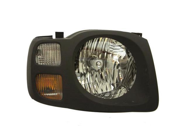 aftermarket for 2002 2003 2004 xterra xe headlight headlamp halogen composite front head lamp light with grey bezel right passenger side 02 03 04 newegg com newegg com