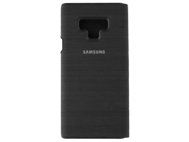 best authentic 9c2d6 e0325 samsung galaxy note9 case, led view wallet cover, black - Newegg.com