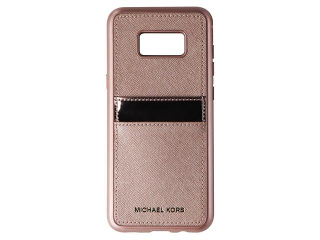 brand new 9e18b ce4fc Original Michael Kors Saffiano Leather Snap-On Case for Galaxy S8 Plus -  Rose Gold - Newegg.com