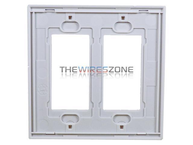 *NEW* Decorator 2-Gang Wall Plate Cover WHITE Decora Lexan Wallplates 50 pc