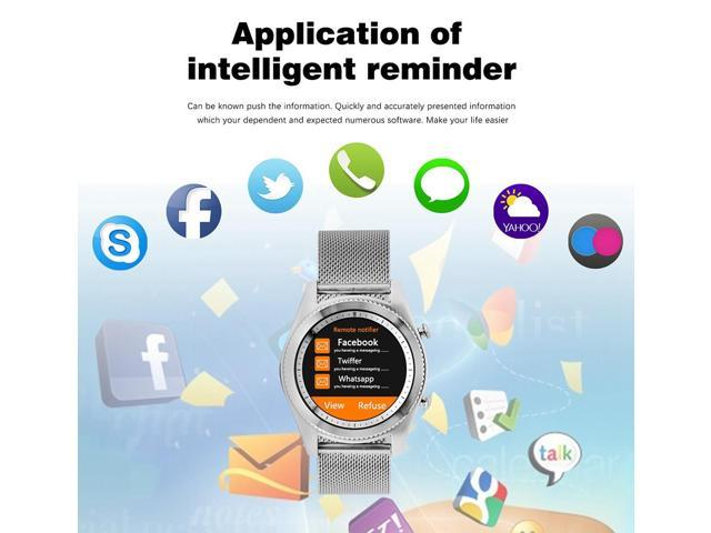 No 1 S9 NFC Smart Watch with Stainless Steel Strap MTK2502C