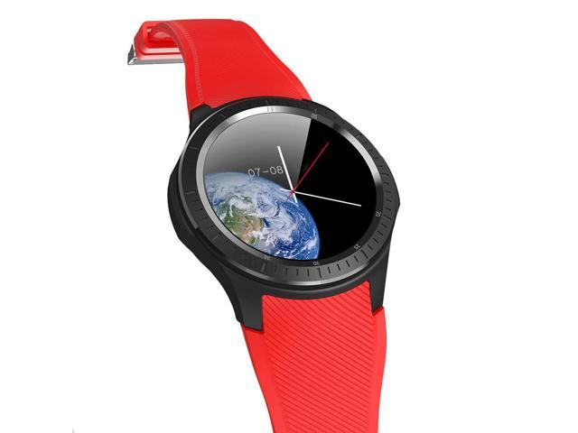 Makibes AT06 4G Smartwatch Phone Android 6 1 MTK6739 Quad Core 1GB RAM 16GB  ROM 1 3 Inch IPS Screen IP68 GPS - Red - Newegg com