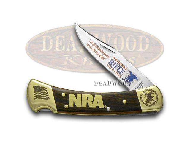 BUCK 110 NRA National Rifle Association Wooden Folding Hunter Custom Pocket  Knife Knives - Newegg com