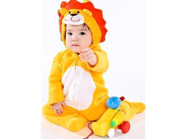 e8ccd4a8f Kigurumi Baby Infant Unisex Cosplay Animal Hoodie Pajamas Pyjamas Costume  Onepiece Outfit Sleepwear - Lion