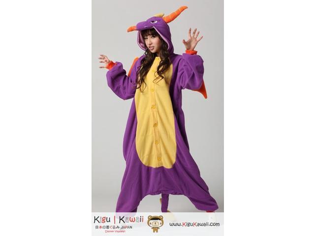 Kigurumi Adult Unisex Cosplay Animal Hoodie Pajamas Pyjamas Costume  Onepiece Outfit Sleepwear - Royal Purple Spyro Dragon Character 6fd376351