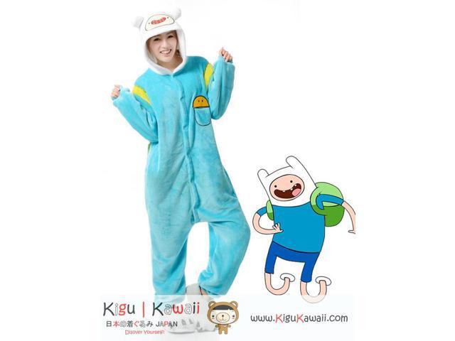 f18b3e784971 The Adventure Time Smart Finn the Human Kigurumi Unisex Cosplay Animal  Hoodie Pajamas Pyjamas Costume Outfit