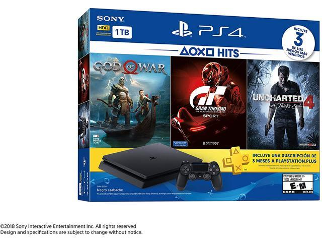 Playstation 4 Slim 1tb Ps4 Hits Console Bundle Includes God Of
