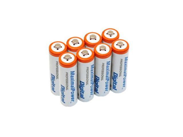 Maximal Power AAA4X2 8-Pieces AAA 1200mAh Ni-MH Rechargeable Batteries
