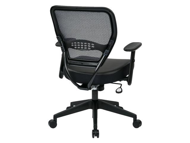 Office Star 5700E   Space Seating Professional Dark Air Grid Back Managers  Chair With Black Eco