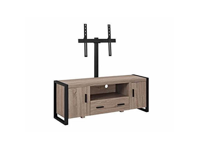 Walker Edison 60 Urban Blend Tv Stand With Mount Driftwood Black