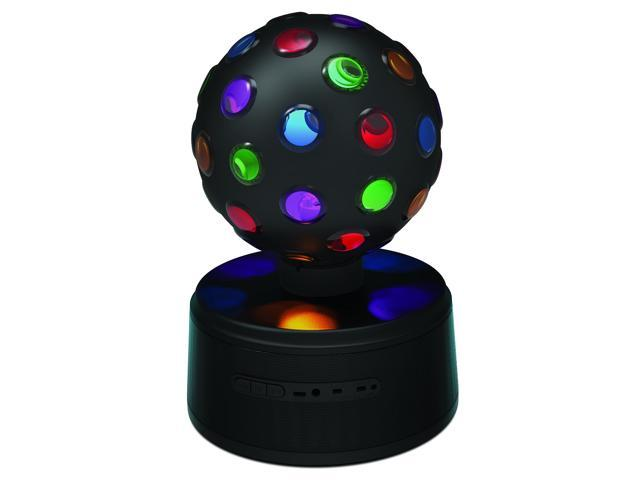 Sharper Image Bluetooth Disco Ball Speaker With Led Color Changing Lights Universal Rechargeable Black