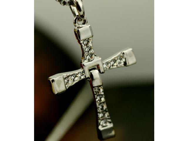 b182ce9b93fed Fast and Furious Dominic Toretto's Cross Pendant Necklace Fashionable Cross  Pendant Necklace Religious Cross Xmas gift(Silver) - Newegg.com