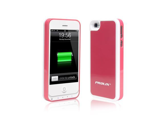best website cd192 fd843 Prolix Power iPhone 4/4S External Battery Case - Fits all versions of  iPhone 4 - (Pink) - Newegg.com