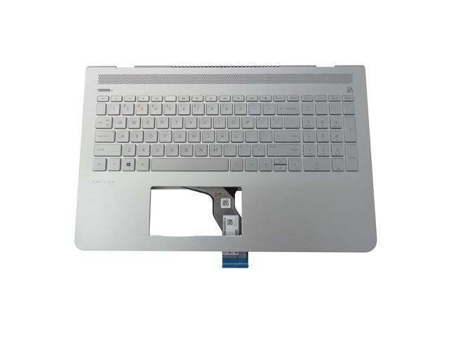 HP Pavilion 15-CC 15T-CC 15CD Silver Palmrest w Backlit  US Keyboard 926858-001
