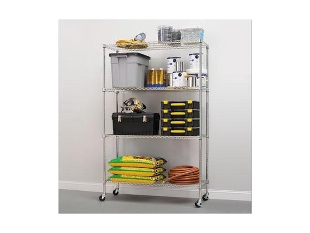Commercial Wire Shelving | Alera Commercial Wire Shelving Kit With Casters Alesw604818sr