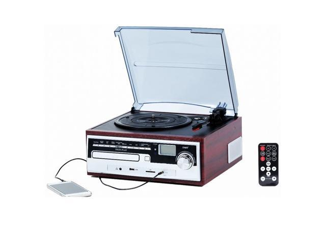 TechPlay ODC26WD 3 Speed Retro Classic Turntable W/ CD player, MP3, AM/FM  Radio, SD and USB - Newegg com