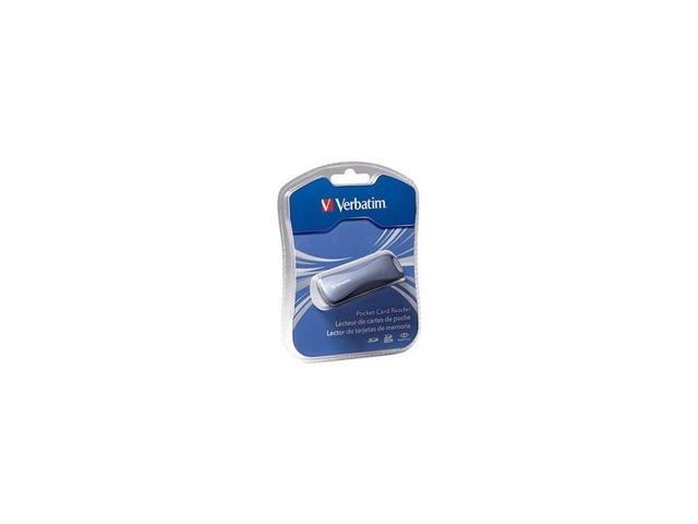 Graphite Verbatim SD//Memory Stick Pocket Card Reader USB 2.0 VER97709