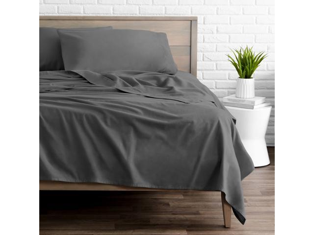 Bare Home Flannel Sheet Set 100 Cotton Velvety Soft Heavyweight Double Brushed Flannel Deep Pocket Newegg Com