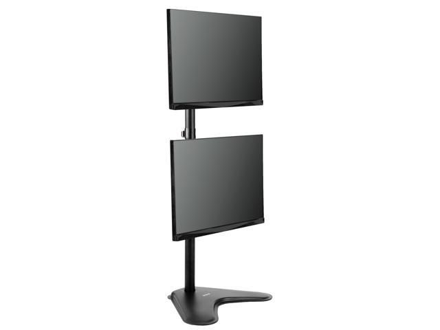 Vivo Dual Lcd Monitor Desk Stand Mount Free Standing Holds Vertical 2 Screens Up