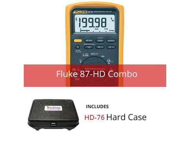 Fluke 87-HD Industrial True RMS Multimeter with Multipurpose Hard Case -  Newegg com