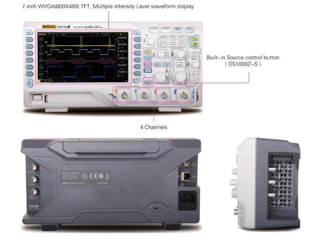 Rigol DS1054Z Digital Oscilloscopes - Bandwidth: 50 MHz, Channels: 4 -  Newegg com