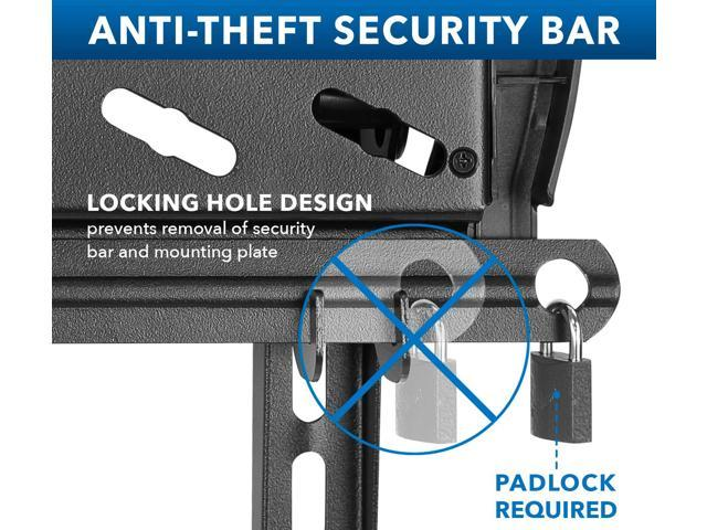 Mount-It Locking Anti Theft TV Wall Mount with Tilt and Height Adjustable