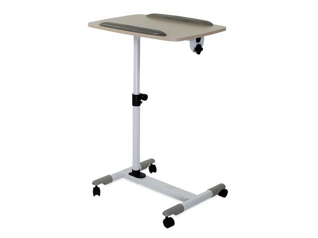 Portable Adjustable Laptop Over Bed Desk Table Stand Tilting Cart Tray w// Wheel