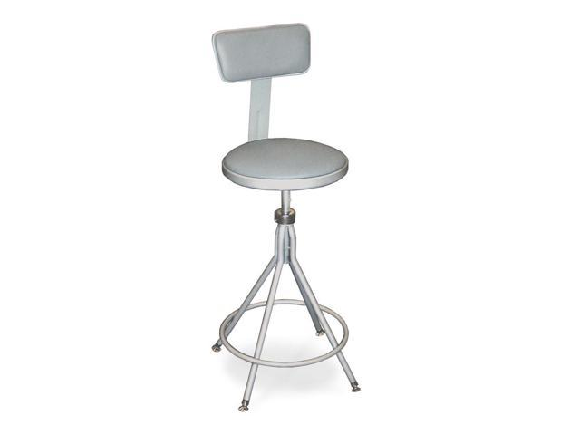 Marvelous 24 28 Adjustable Metal Home Office Kitchen Stool With Padded Seat And Backrest Creativecarmelina Interior Chair Design Creativecarmelinacom