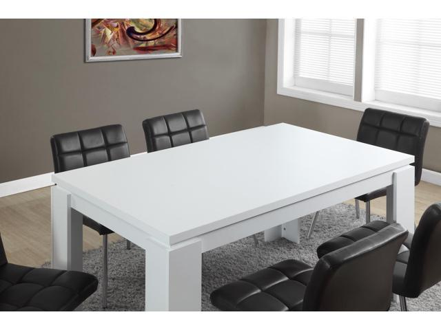 Monarch Specialties White Hollow Core Dining Table I 1056 Newegg Com