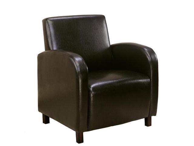 Dark Brown Accent Chairs.Monarch Specialties I 8050 Dark Brown Leather Look Accent Chair Newegg Com