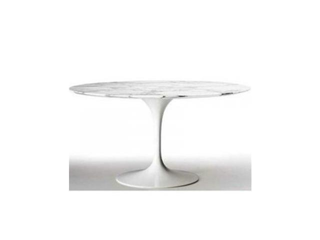 Fine Mod Imports Flower Round Marble Top Dining Table In White 32 Inch Newegg Com