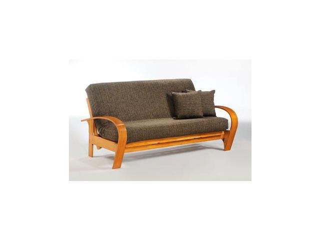 Night And Day Montreal Futon Frame Queen Rosewood No Drawers