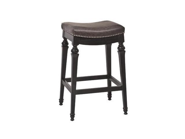 Astounding Hillsdale Vetrina Backless Non Swivel Counter Stool In Black W Gold Rub Unemploymentrelief Wooden Chair Designs For Living Room Unemploymentrelieforg