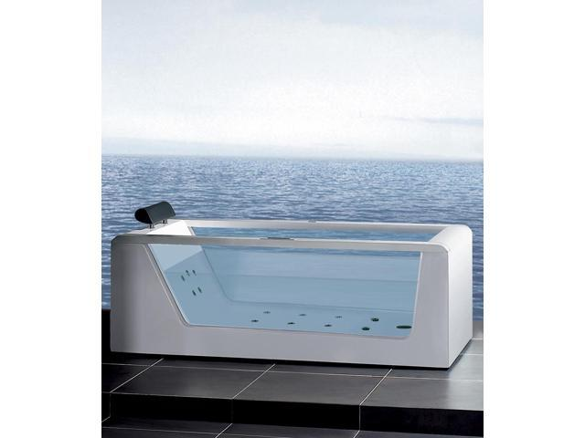 Ariel Bath Stylish And Modern See Through Whirlpool Bathtub   98.8 Gallon