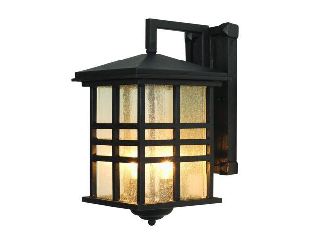 Trans Globe Lighting 4636 Bk Black Asian Two Light Up Outdoor Square Wall Sconce From