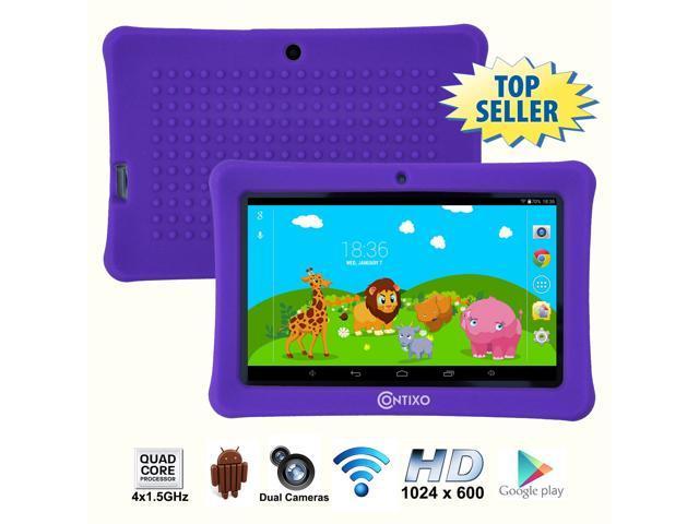 Contixo 7 Inch Quad Core Android 4 4 Kids Tablet, HD Display 1024x600, 1GB  RAM, 8GB Storage, Dual Cameras, Wi-Fi, Kids Place App & Google Play Store