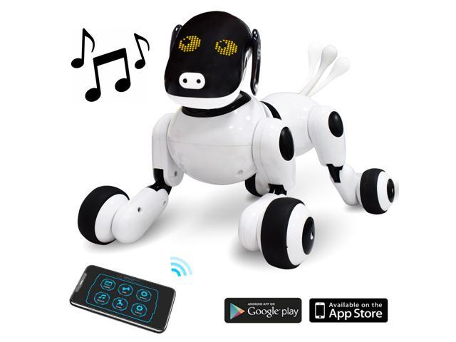 Contixo Puppy Smart Voice Activated & App Controlled Kids Robot Dog Toy |  Interactive, Dances, Plays Music w/ Touch Sensor Control for Boys & Girls,