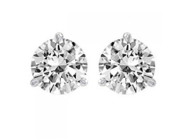 88fecffcd4884 1.00 ct Martini Set Round Cut Diamond Stud Earrings in Screw Back -  Newegg.com